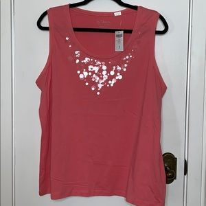 NWT Chico's size 3 XL/16peach/ pink color tank top